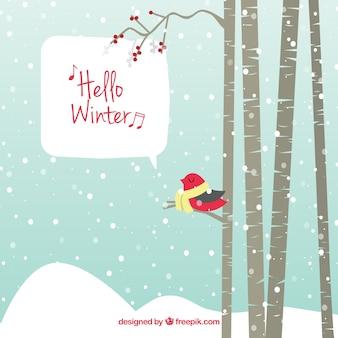 Fondo de naturaleza de invierno