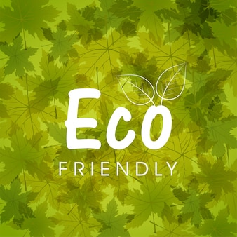 Fondo de naturaleza verde con hojas de otoño para Eco Friendly concepto.