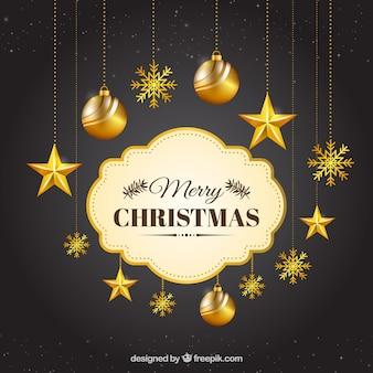 Feliz navidad fotos y vectores gratis - Bolas de navidad doradas ...