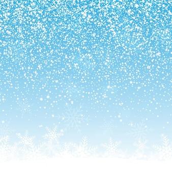 Fondo de navidad con copos de nieve