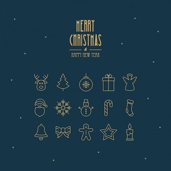 Fondo de navidad con elementos minimalistas