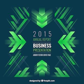 Fondo de negocio abstracto con formas verdes