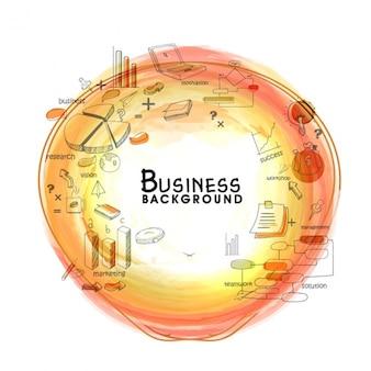 Fondo de negocios con objetos y mancha abstracta