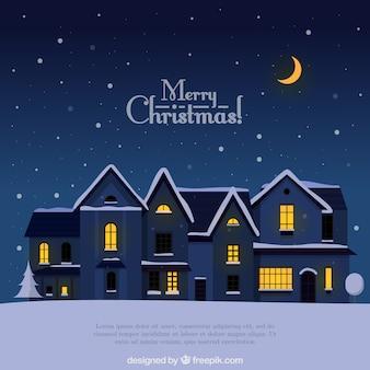 Fondo de noche de navidad