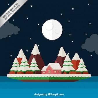 Fondo de noche tranquila de navidad