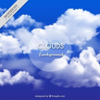 Fondo de nubes realistas
