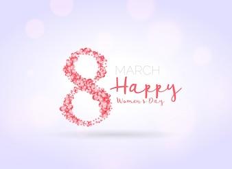 Fondo de ocho hecho de flores del día de la mujer