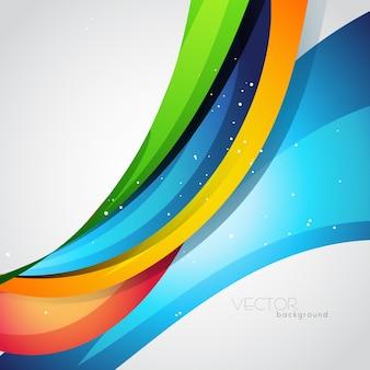 Fondo de onda abstracta colorida