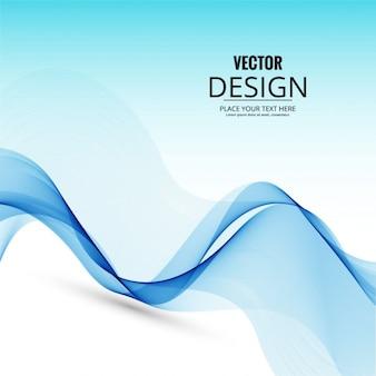 Fondo de onda azul moderno