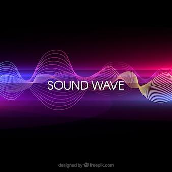 Fondo de onda sonora abstracta