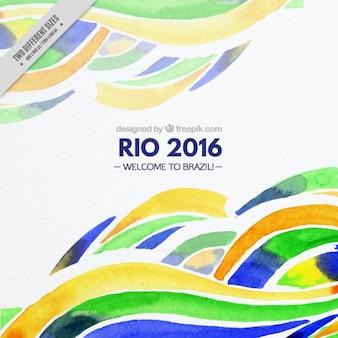Fondo de ondas de acuarela de juegos olímpicos