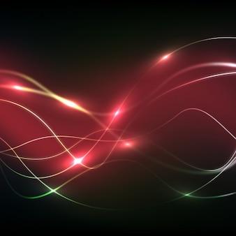 Fondo de ondas rojas de electricidad