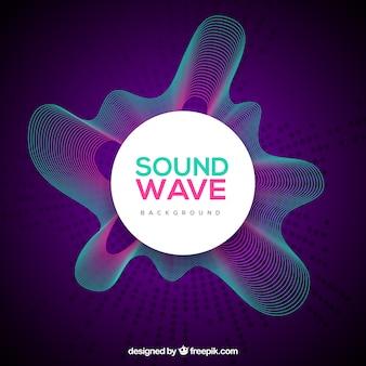 Fondo de ondas sonoras moradas