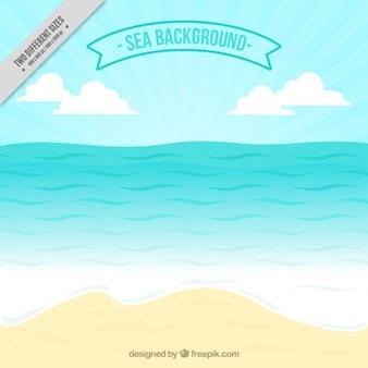 Fondo de orilla de la playa
