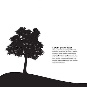 Fondo de paisaje con siluetas