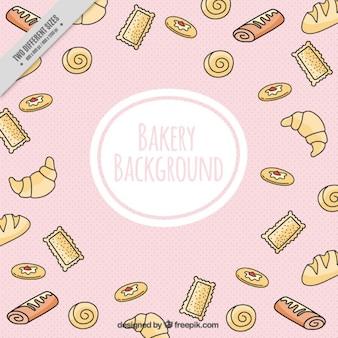 Fondo de panadería con croissants