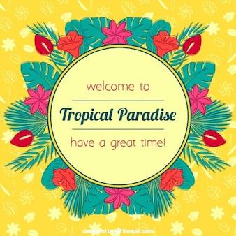 Fondo de paraíso tropical