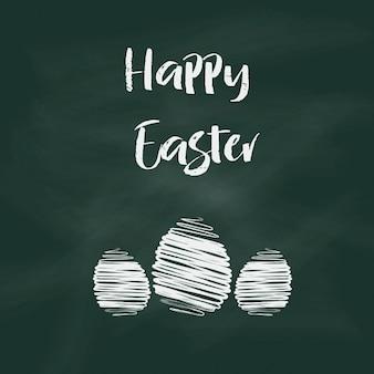 Fondo de Pascua con el texto en el diseño de pizarra