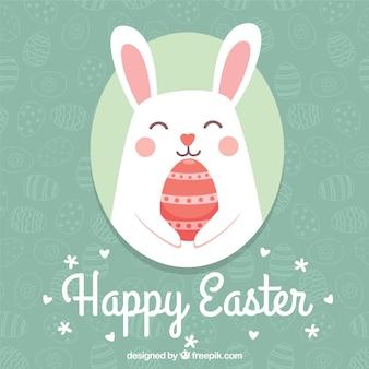 Fondo de Pascua de simpático conejito