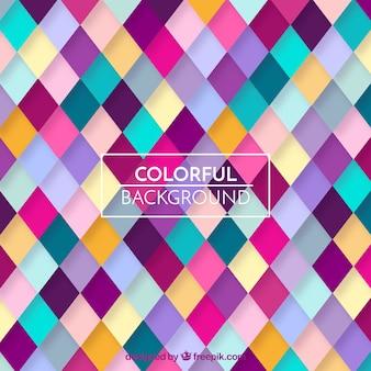 Fondo de patrón geométrico colorido