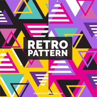 Fondo de patrones coloridos con triángulos