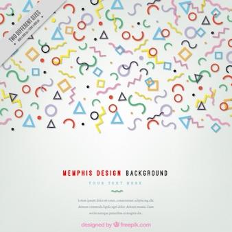 Fondo de pequeñas formas geométricas de colores