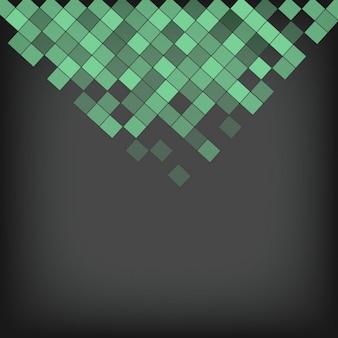 Fondo de pequeños cuadrados verdes