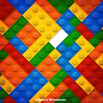 Fondo de piezas de colores en diseño plano