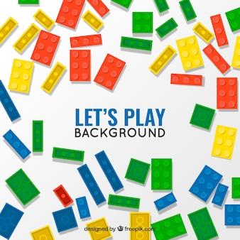 Fondo de piezas de juego de colores