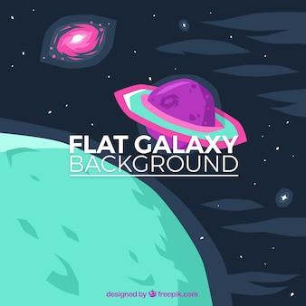 Fondo de planetas de colores