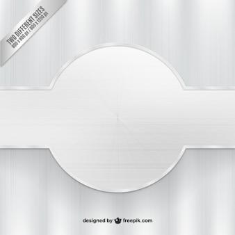 Fondo de plata con banner