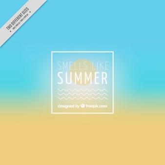 Fondo de playa desenfocada con sol
