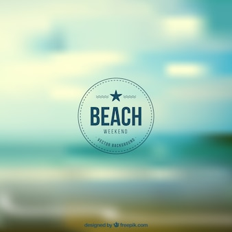 Fondo de playa en el fin de semana