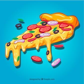 Fondo de porción de pizza
