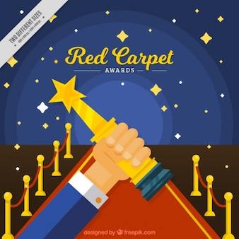 Fondo de premio en la alfombra roja