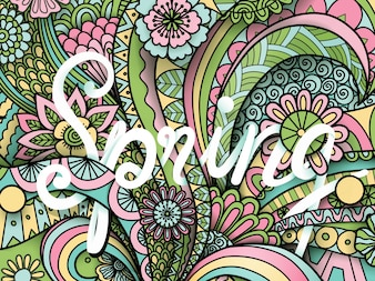 Fondo de primavera colorido