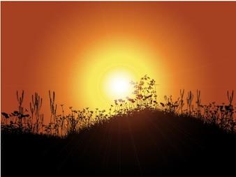 Fondo de puesta de sol