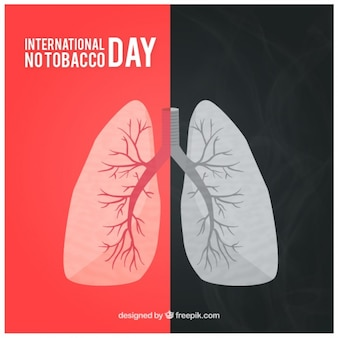Fondo de pulmones de fumador