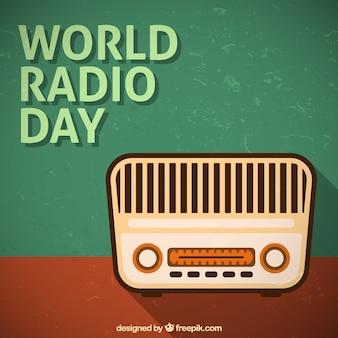 Fondo de radio vintage