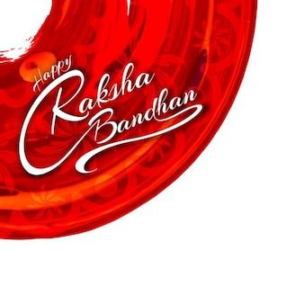 Fondo de raksha bandhan con círculo rojo ornamental