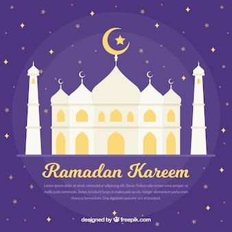 Fondo de ramadan con diseño de mezquita