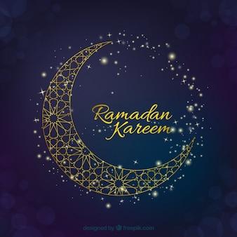 Fondo de ramadán con luna elegante