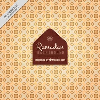 Fondo de ramadan de mosaicos geométricos