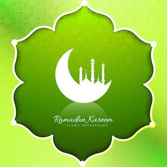 Fondo de ramadán kareem con forma de flor