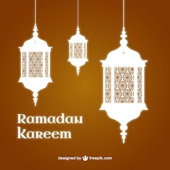 Fondo de Ramadan Kareem con linternas
