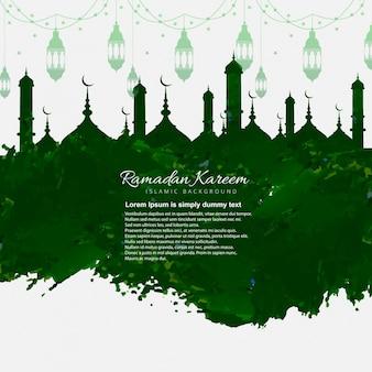 Fondo de ramadán kareem de pintura