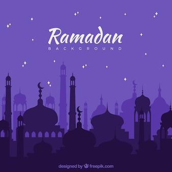 Fondo de ramadan lila