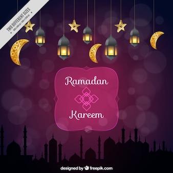 Fondo de ramadan ornamental