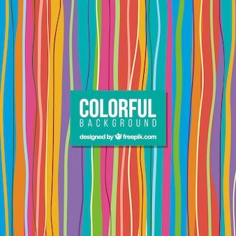 Fondo de rayas de colores