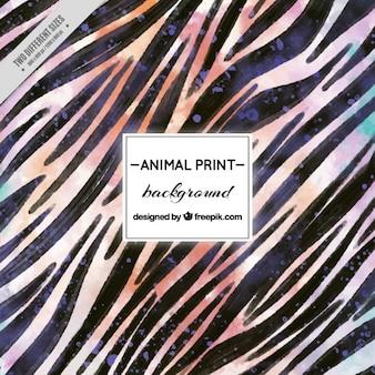 Fondo de rayas de zebra de acuarela